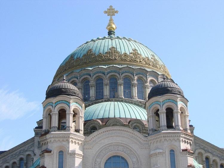 Купол Кронштадтского Никольского морского собора