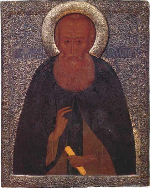 Icon of St. Alexander of Svir (16s century)