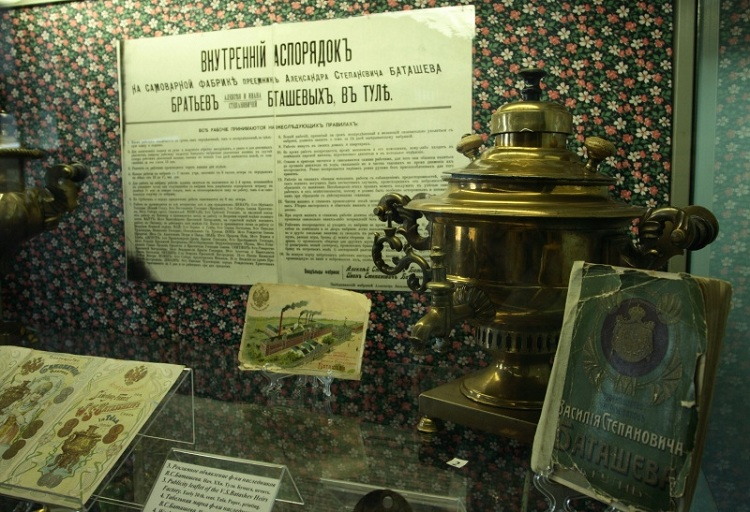 Экспозиция музея Тульские самовары