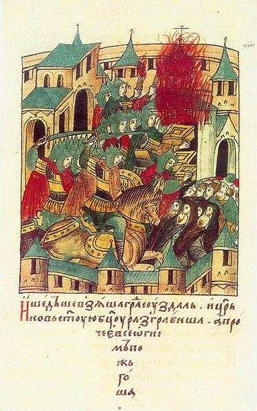 Взятие Суздаля монголами