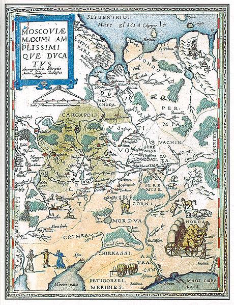 Голландская карта Московии