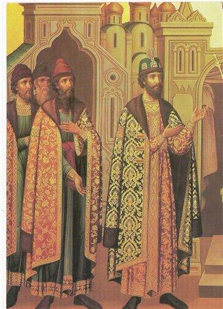 Царь Федор Иоаннович в окружении бояр